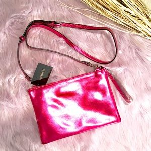 Forever 21 metallic pink crossbody purse NWT